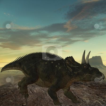 Diceratops-3D Dinosaur stock photo, 3D Render of an Diceratops-3D Dinosaur by Andreas Meyer