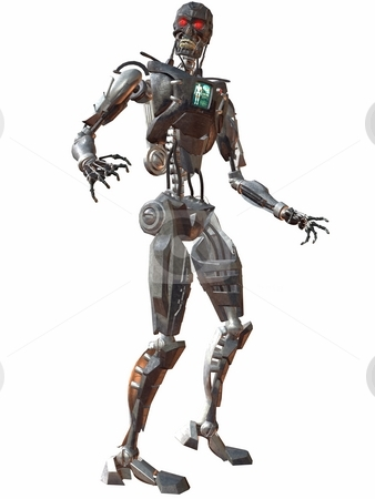 Cyborg stock photo, 3D Render of an Cyborg by Andreas Meyer