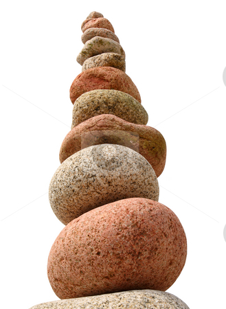 A large stack of colorful beach stones. stock photo, A large stack of colorful beach stones. by Stephen Rees