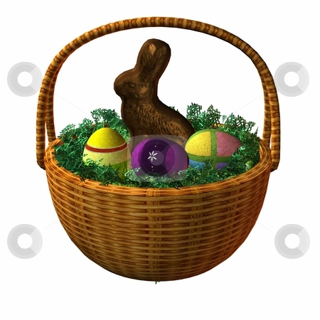 Easter Basket stock photo, 3D Render of an Easter Basket by Andreas Meyer