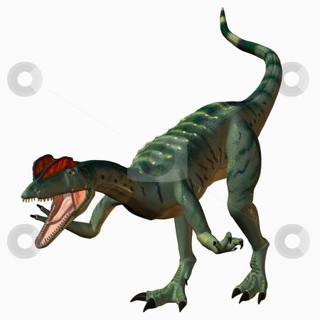 Dilophosaurus-3D Dinosaur stock photo, 3D Render of an Dilophosaurus-3D Dinosaur by Andreas Meyer
