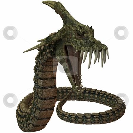 Dinoconda - Fantasy Animal stock photo, 3D Render of an Dinoconda - Fantasy Animal by Andreas Meyer