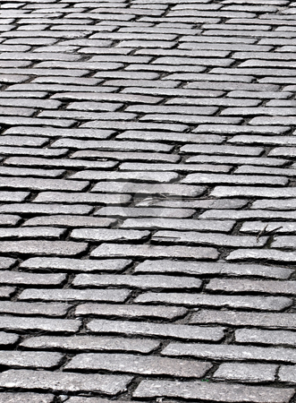 Close up of cobbles in an old English cobblestone street in Truro, Cornwall UK. stock photo, Close up of cobbles in an old English cobblestone street in Truro, Cornwall UK. by Stephen Rees