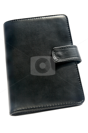 Black organizer address book and diary. stock photo, Black organizer address book and diary. by Stephen Rees