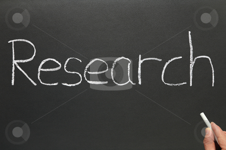 Research, written on a blackboard. stock photo, Research, written on a blackboard. by Stephen Rees
