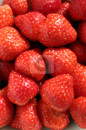 Strawberries, close view stock photo, Strawberries, close view by Stephen Rees