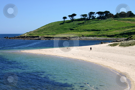 Pelistry beach, St. Mary's, Isles of Scilly stock photo, Pelistry beach, St. Mary's, Isles of Scilly by Stephen Rees