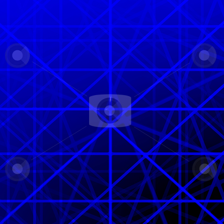 Blue grid lines background illustration. stock photo, Blue grid lines background illustration. by Stephen Rees