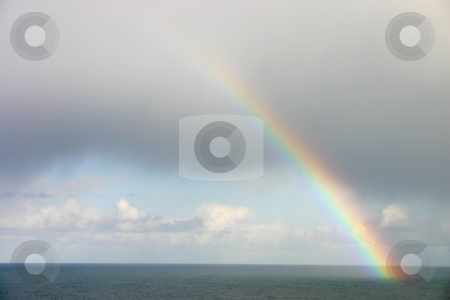Natural rainbow over the sea, St. Ives, Cornwall. stock photo, Natural rainbow over the sea, St. Ives, Cornwall. by Stephen Rees