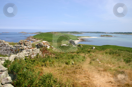 The deserted island of Samson, Isles of Scilly. stock photo, Landscape of the ruins of old cottages and the deserted island of Samson, Isles of Scilly. by Stephen Rees