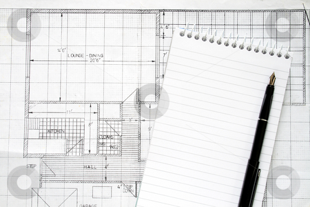 Making building plans. stock photo, Making building plans. by Stephen Rees