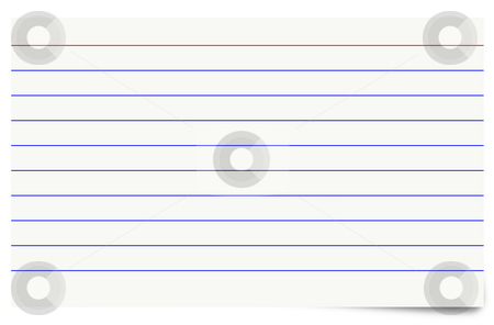 Illustration of a blank isolated index card. stock photo, Illustration of a blank isolated index card. by Stephen Rees