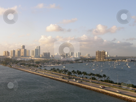 Miami Skyline stock photo, Miami Skyline in Florida (USA) by Ritu Jethani
