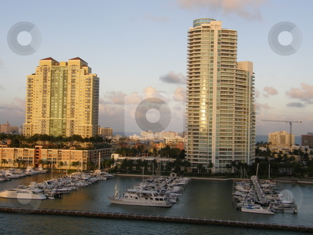 Vacation homes in fl,  vacation houses in florida stock photo, Skyscrapers in Miami, Florida (USA) by Ritu Jethani