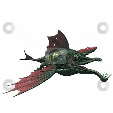 Fantasy Dragon Fish stock photo, 3D Render of an Fantasy Dragon Fish by Andreas Meyer