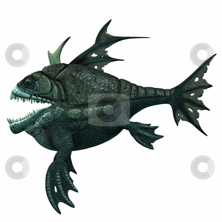 Fantasy Armourfish stock photo, 3D Render of an Fantasy Armourfish by Andreas Meyer