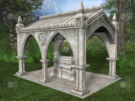 Fantasy Building stock photo, 3D Render of an Fantasy Building by Andreas Meyer