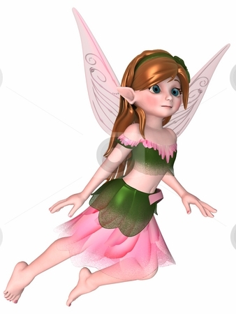 Toon Fae stock photo, 3D Render of an Toon Fae by Andreas Meyer