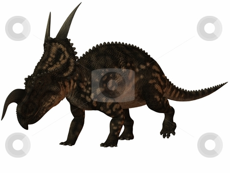 Einiosaurus-3D Dinosaur stock photo, 3D Render of an Einiosaurus-3D Dinosaur by Andreas Meyer