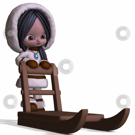 Toon Eskimo stock photo, 3D Render of an Toon Eskimo by Andreas Meyer