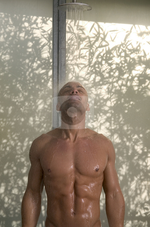 MPIXIS641057 stock photo, Man having a shower by Mpixis World