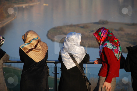 Discussion stock photo, Old women having discussion in Istanbul, Turkey by Gyozo Toth