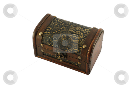Chest stock photo, Jewel--case with traditional Transylvanian fretwork. by Gyozo Toth