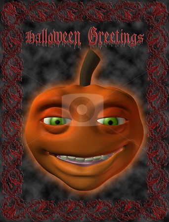 Greeting Card-Halloween stock photo,  by Andreas Meyer