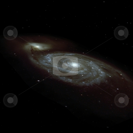 Galaxy stock photo, 3D Render of an Galaxy by Andreas Meyer