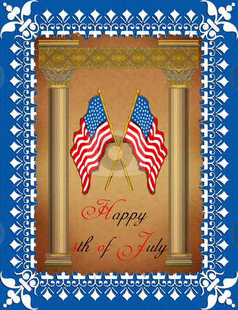Greeting Card - 4th July stock photo,  by Andreas Meyer