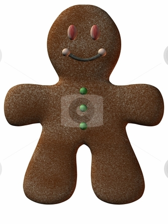 Gingerbread Man stock photo, 3D Render of an Gingerbread Man by Andreas Meyer