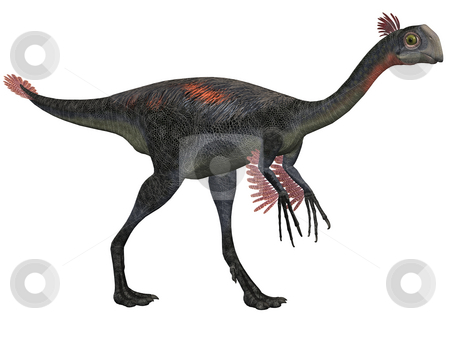 Gigantoraptor erlianensis-3D Dinosaur stock photo, 3D Render of an Gigantoraptor erlianensis-3D Dinosaur by Andreas Meyer