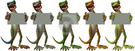Toonimal Gecko stock photo, 3D Render of an Toonimal Gecko by Andreas Meyer
