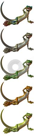 Toonimal Gecko stock photo, 3D Render of an Toonimal Gecko by Andreas Meyer