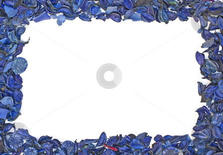 Blue petals frame stock photo,  by Sinisa Botas