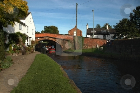 Bridgewater Canal Lymm stock photo, Located in Cheshire, small town dating back to 15th Century. by Ray Roscoe