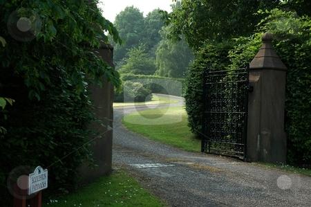 Entrance to Manor House stock photo, Eccleston, Cheshire UK by Ray Roscoe