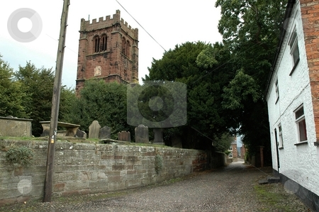 Village Church stock photo, The village of Tarvin by Ray Roscoe