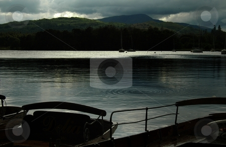 Dusk on Windermere stock photo, Lake Windermere by Ray Roscoe