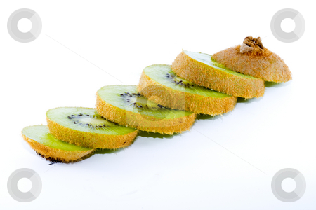 Sliced Kiwi stock photo, Sliced kiwi - healthy eating - vegetables - close up by Petr Koudelka
