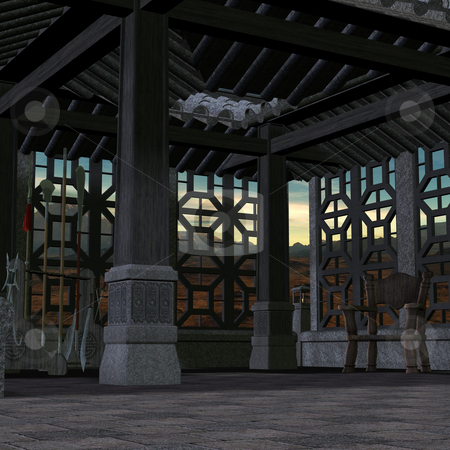 Chinese Place stock photo, 3D Render of an Chinese Place by Andreas Meyer