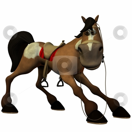 Toon Horse stock photo, 3D Render of an Toon Horse by Andreas Meyer
