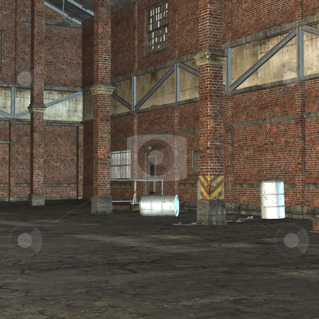 Industry Building stock photo, 3D Render of an Industry Building by Andreas Meyer