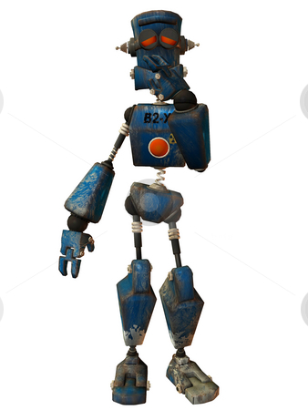 Toon Bot Klank stock photo, 3D Render of an Toon Bot by Andreas Meyer