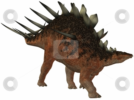 Kentrosaurus-3D Dinosaur stock photo, 3D Render of an Kentrosaurus-3D Dinosaur by Andreas Meyer