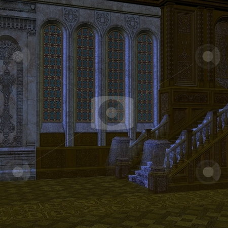 Haunted Mansion stock photo, 3D Render of an Haunted Mansion by Andreas Meyer
