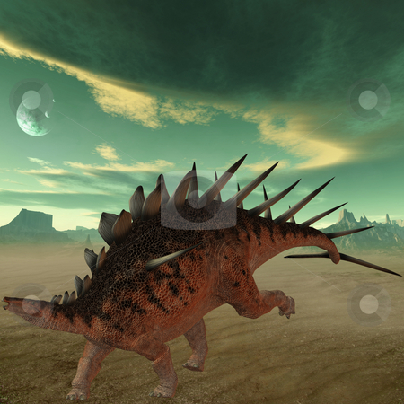 Kentrosaurus-3D Dinosaur stock photo, 3D Render of an Kentrosaurus-3D Dinosaur by Andreas Meyer