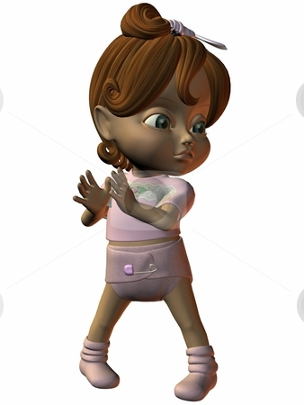 Anime Toon Kid stock photo, 3D Render of an Anime Toon Kid by Andreas Meyer