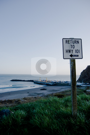 Return to Highway 101 stock photo,  by Peter Bruenner