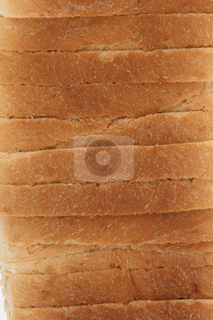 Toast bread texture stock photo, Close-up from stack of toast bread slices for background use by EVANGELOS THOMAIDIS